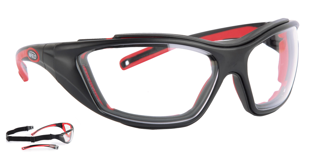 Combor - Black & Red Anti Fog